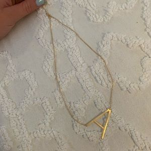 """Gold letter """"A"""" necklace"""